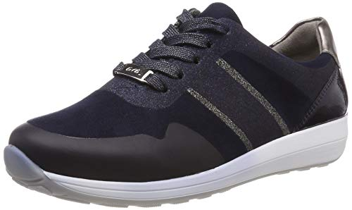 ARA Damen Osaka 1234589 Sneaker, Blau (Blau/Midnight, Iron/Titan 05), 38 EU