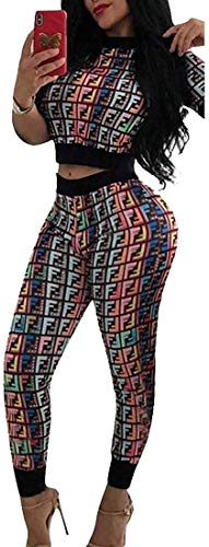Women's Tracksuits Jumpsuits 2 Piece Outfit Letter Print Crop Top Shorts Set,Pink,Large