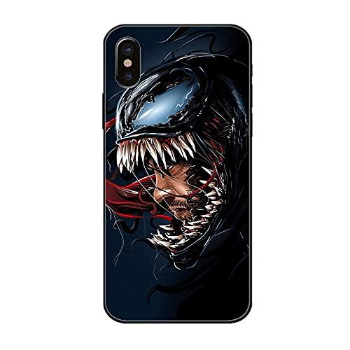 Anime Art Popular Movies, Premium TPU Back Phone Case Shock Phone Case for Iphone Venom Spider Man Eddie Brock Mac Gargan Marvel Comics DESIGNS-A_For_iphone_7_Plus