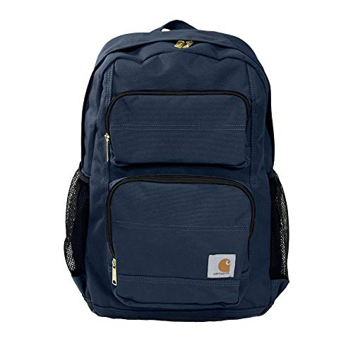 Carhartt Legacy Standard Work Backpack with Padded Laptop Sleeve and Tablet Storage, Navy, Medium