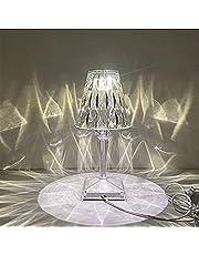 مصباح طاولة كريستال من يوكومو - مصباح ليلي LED رومانسي هدية عصرية للاسترخاء، مصباح بجانب السرير مع مصباح مكتب مزخرف يعمل بالطاقة USB لغرفة المعيشة / غرفة النوم / غرفة الدراسة / المكتب