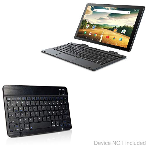SmarTab ST1009 2-in-1 Tablet (10.1 in) Keyboard, BoxWave [SlimKeys Bluetooth Keyboard] Portable Keyboard with Integrated Commands for SmarTab ST1009 2-in-1 Tablet (10.1 in) - Jet Black