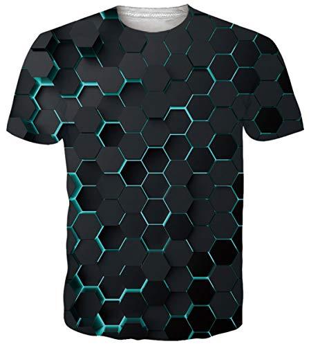 Funnycokid Unisex t-shirt z nadrukiem 3D, krótki rękaw, na lato, męski t-shirt