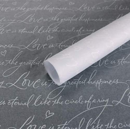 Marmer/brief bloem inwikkeling tissuepapier materiaal 30 vellen schoenen geschenkverpakking ambachtelijke papier diy boeket benodigdheden 50 * 70cm, 3
