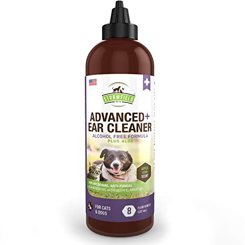 Dog Ear Cleaner Solution  Pet Cleaning Ear Wash for Dogs Cats  8 oz  Cat Dog Ear Infection Treatment Yeast Odor Itching Otitis Externa Wax Antibacterial Antifungal Otic Cleanser USA