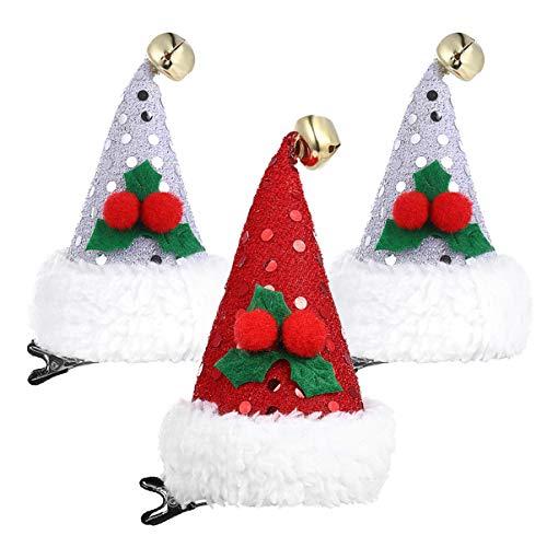 PRETYZOOM Weihnachtsmütze Haarspangen Weihnachten Pailletten Haarnadeln für Kinder Party Haarschmuck