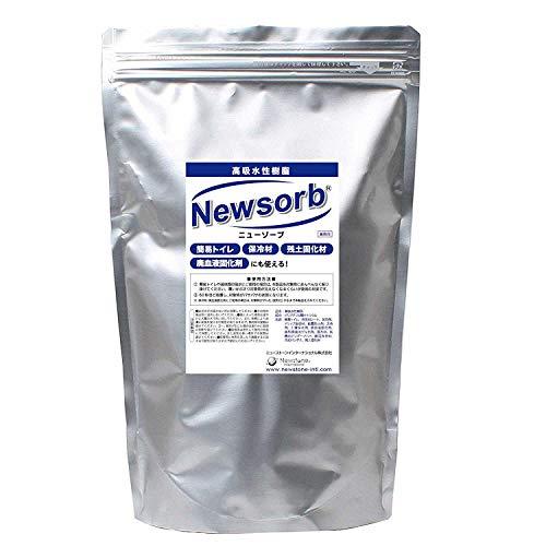 Newsorb (ニューゾーブ)簡易トイレにも最適:約100回分 高吸水性樹脂(1kg)自重の約400倍から700倍もの水を吸収してゲルを形成。用途例は、農業・園芸用、保冷剤、残土処理剤、結露防止壁紙、ゲル型消臭 (1 kg)