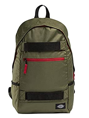 Padded back Padded shoulder straps Padded pocket for laptop Velcro stripes for skate