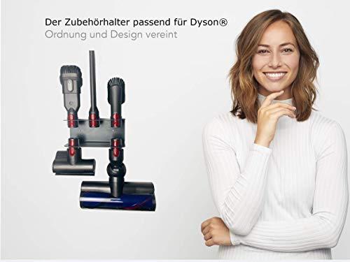 Zubehör Halterung für die Zubehör Teile von Dyson V7 V8 V10 V11Hand Staubsauger/Organizer und Dockingstation - Best in Design - sehr schnelle und einfache Montage