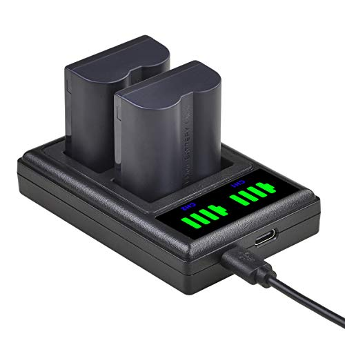 CGA-S006 S006A S006E DMW-BMA7 Battery and LED Dual USB Charger Replacement for Panasonic Lumix DMC-FZ7 DMC-FZ8 DMC-FZ18 DMC-FZ28 DMC-FZ30 DMC-FZ35 DMC-FZ38 DMC-FZ50 Digital Camera