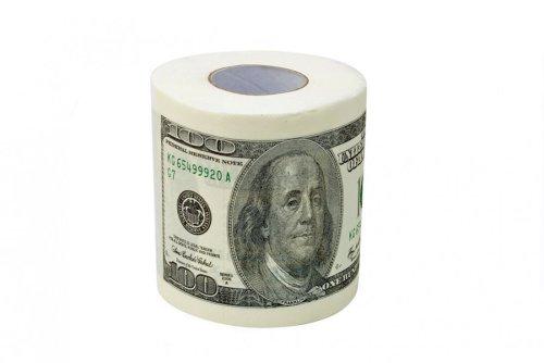 Dollar Toilettenpapier 100 Dollar Scheine Klopapier