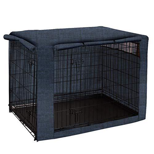 QEES cobertores para jaulas de Perro, Resistente al Viento, para jaulas de Alambre, Tela esmerilada, protección para Interiores y Exteriores, fácil de Poner, Quitar