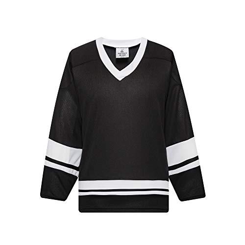 EALER H400 Series Blank Ice Hockey Practice Jersey League Jersey Team Jersey Black/White