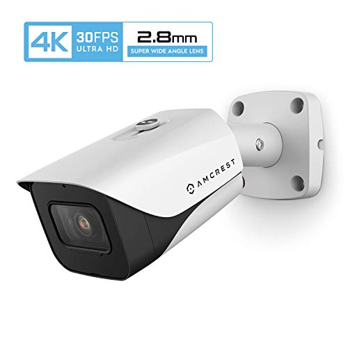 Review Of Amcrest 4K POE Camera 30fps UltraHD 8MP Outdoor Bullet PoE IP Camera, 164ft Night Vision, ...