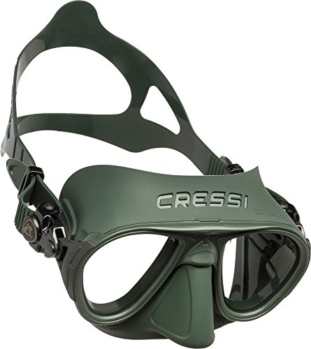 Cressi Calibro Máscara polyvalent para Buceo, apnea Avanzada y submarina Fishing, Unisex Adulto, Verde, Talla única