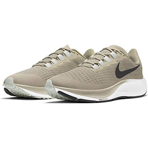 Nike Herren Air Zoom Pegasus 37 Running Shoe, Stone/Black-Light Army-Off Noir-Barely Green, 43 EU