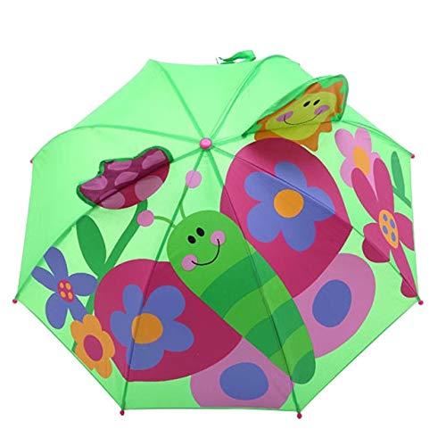 MAWA Cubierta de Paraguas de Dibujos Animados 3D Parasol protección Solar protección UV Paraguas Plegable a Prueba de Viento al Aire Libre Lluvia y Viento - D, a2