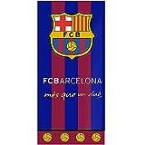 FCB 79283A FC Barcelona - Toalla de playa (70 x 140 cm, 100% algodón)