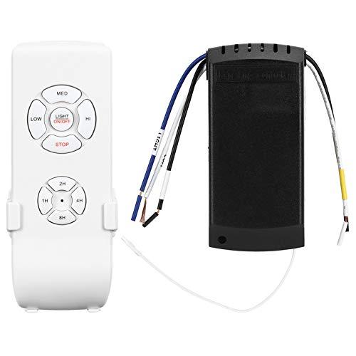 Interruptor inteligente inalámbrico, interruptor inteligente de un solo cable compatible con Smart Life Interruptor de 3 velocidades para controlador de luz de ventilador de techo