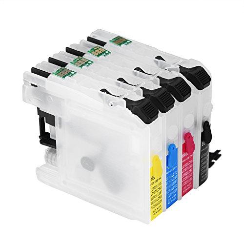 Richer-R Cartucho de Tinta Vacío Recargable Ensamblados Universal Compatible con Microprocesador de…