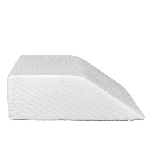 "Back Pain Relief Half Moon Bolster/Wedge/Double-Sided Grooved Memory Foam Pillow- Provides Best Support for Sleeping on Side or Back - Memory Foam Semi Roll Leg/Knee Pillow (24"" x 21"" x 8"")"
