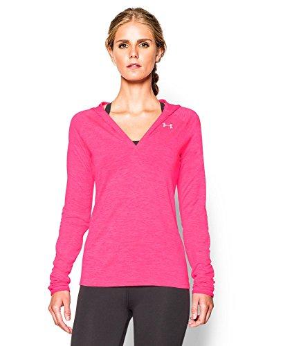 Under Armour Damen Fitness Sweatshirt Langarm Hoodie, 1269181-641, Rosa (Mojo Pink), S