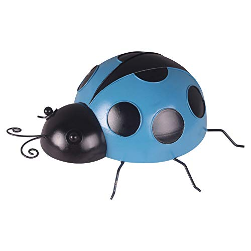 Frauherzz Metal Ladybugs Garden Wall Art Decor Cute Ladybugs Sculpture for Backyard Garden Lawn Porch Outdoor Decorations with Black Spots Easy Hanging Yard Wall Ornament Outdoor Wall Decor