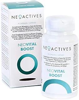 NeoVital Boost | Ginseng coreano. eleuterococo. guaraná. vitamina C y Vitamina B5 | Ayuda a disminuir el cansancio y la fatiga | Complemento concentrado. solo 1 capsula día | 90 Capsulas
