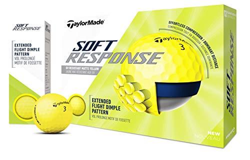 TaylorMade Unisex's TM20 Soft Response YLW dzn Golf Ball,...