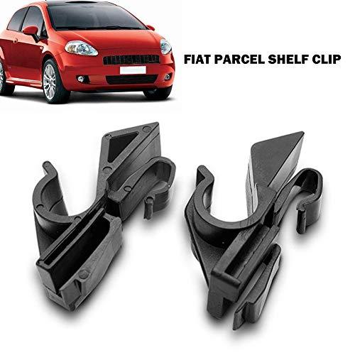 UIYU 1 Paar Auto-Hutablage-Clip, Ersatz für Fiat Grande Punto ab 2006, Sitz-Kopfstützen-Aufbewahrungshaken, Auto-Zubehör