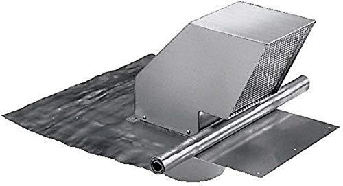 Miele Original Zubehör DDF 125 Dachdurchführung / für Dunstabzugshauben / für Entlüftung / für Dachschrägen ab 22° und alle Ziegelarten / Rückstauklappe / Ansaugstutzen 150 mm Durchmesser