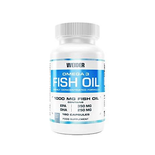 WEIDER Omega 3 Fischöl 1000 mg Softgel Kapseln, hoher Gehalt an EPA + DHA