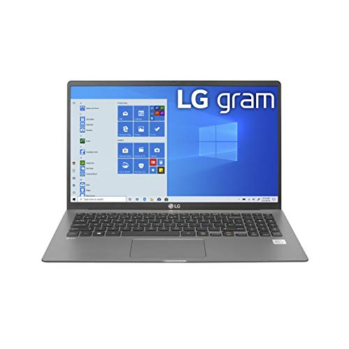 "LG Gram Laptop - 15.6"" Full HD IPS , Intel 10th Gen Core i5-1035G7 CPU, 8GB RAM, 256GB M.2 MVMe SSD, 18.5 Hours Battery, Thunderbolt 3 - 15Z90N (2020)"