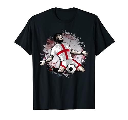 Inglaterra Fútbol Bandera Nacional Inglesa Football Lovers Camiseta