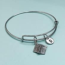 Newspaper bangle, newspaper charm bracelet, expandable bangle, charm bangle, personalize bracelet, initial bracelet, monogram