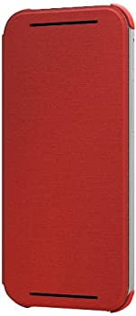 HTC Flip Case for HTC One  M8  - Retail Packaging - Poppy Red