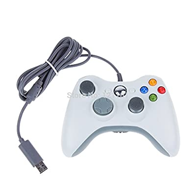 Amgglobal® New White Compatible Wired Usb Controller Console Game Pads For Microsoft Xbox 360 & Pc Windows Elite