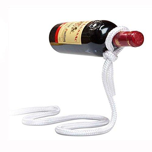 Betan Magic Wine Bottle Rope Lasso Holder - Holds Bottles Floating in The Air(White)