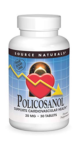 SOURCE NATURALS Policosanol 20 Mg Tablet, 30 Count