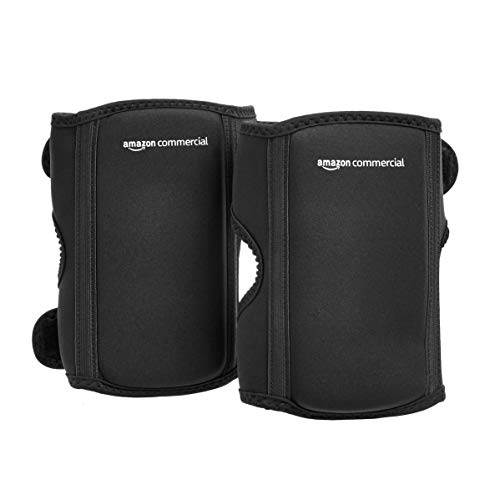 AmazonCommercial Over/under Knee Pads, 8.5 in, Black, 1 pair