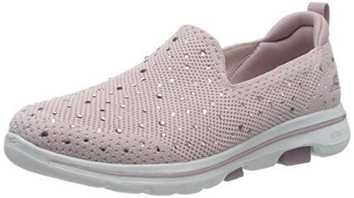 Skechers Mädchen Go Walk 5-Limelight Slip On Sneaker, Pink (Light Mauve Textile/Trim Ltmv), 35 EU