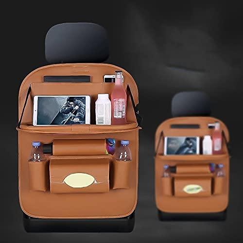 Bolso de almacenamiento del organizador del asiento trasero del coche Accesorios para automóviles de almacenamiento interior Bolsa de asiento trasero Mercancías con la red plegable de la red en tronco