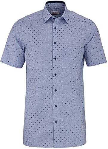 Marvelis Modern Fit Hemd Halbarm New Kent Kragen Muster blau Größe 41