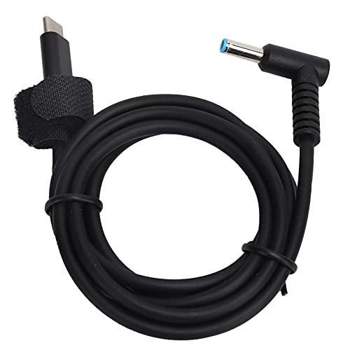 Cable de Carga Rápida para Computadora Portátil, Conveniente, Práctico, Estable, de 1,5 Metros hasta 65 W, Material de PVC, USB-C a 4,5x3,0 Mm, Enchufe de CC, Cable de Alimentación para Computadora Po