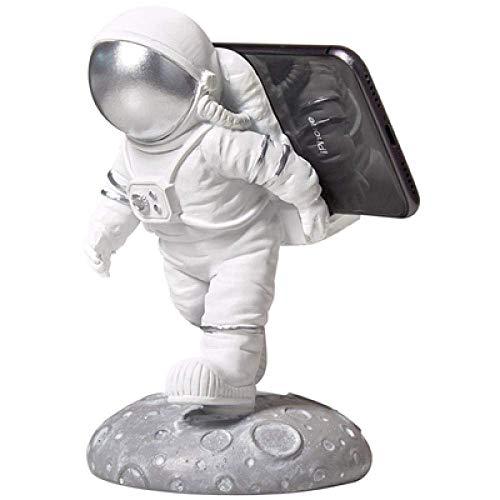 DJY-JY Decoraciones del Arte del Arte Astronauta Ornamentos Sala de Modelo de Soporte for teléfono móvil 1 Dormitorio