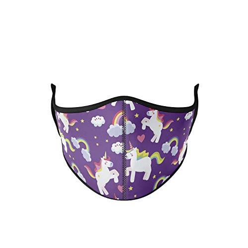 mascarilla tela homologada Talla Infantil - Unicornio Lila - mascarillas tela homologadas lavables y mascarilla reutilizable...
