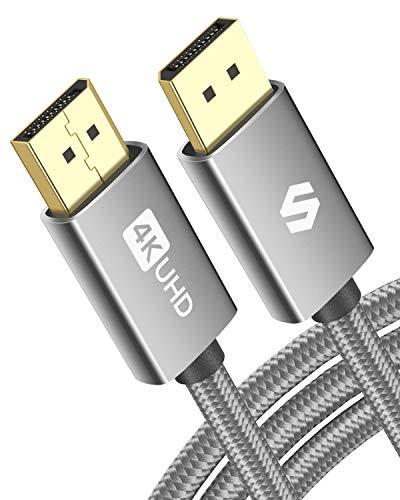 DisplayPort Kabel 3m 144Hz, Unterstützung 4K@60Hz, 2K@144Hz, 2K@165Hz, 1080@240Hz, 3D, Kompatibel mit FreeSync und G-Sync, Silkland DP Kabel für 144Hz-Gaming-Monitor, TV, PC, Grafikkarte