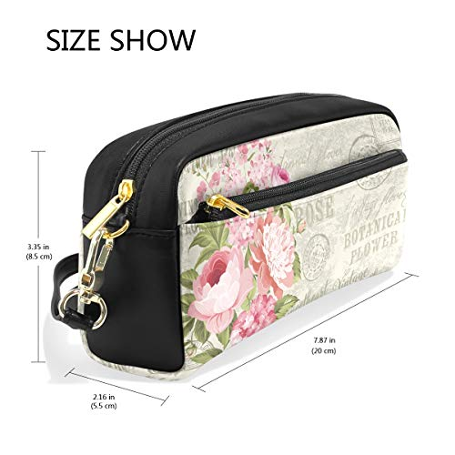 Pencil Case Large Capacity Holders Flower Garland for Invitation Card Pen Stationery Pouch Bag with Zipper Makeup