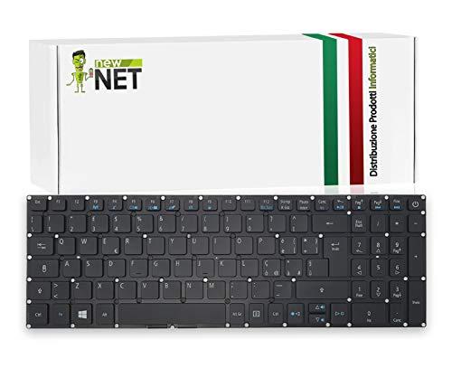 New Net Keyboards – Teclado italiano compatible para Notebook Acer Aspire Nitro V15 VN7-572G VN7-592G VN7-792G Aspire E15 V3-574 V3-574G V3-574T V3-574TG E5-722 E5-772 E5-5-5 73T Retroiluminado. ata