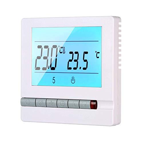 Mozusa Termostato de calefacción - LCD Pantalla digital Programación Termostato Termostato Controlador de temperatura Instrumento Semanal Programable Calefacción Sala de calefacción Termostato Termost